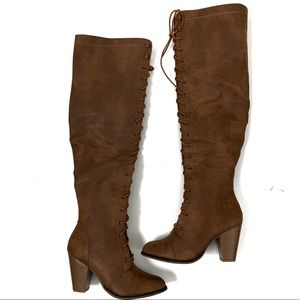 Forever knee high brown boots 6.5
